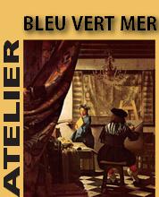 Atelier bleu vert mer, cours de peinture Trouville Logo